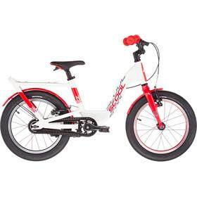 s'cool niXe EVO 16 Vrijwiel Kinderen, wit/rood